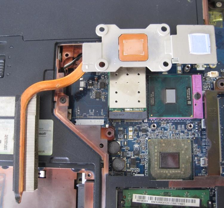 Acer Aspire 5315 Очищенный радиатор