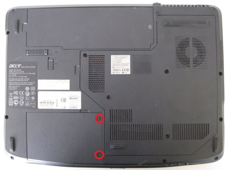 Acer Aspire 5315 Снятие жеского диска
