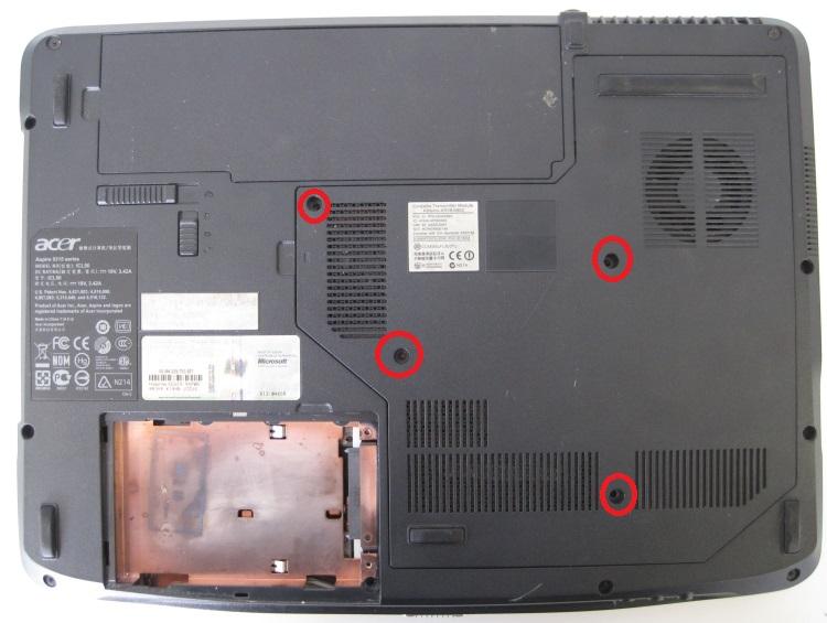 Acer Aspire 5315 без жесткого диска