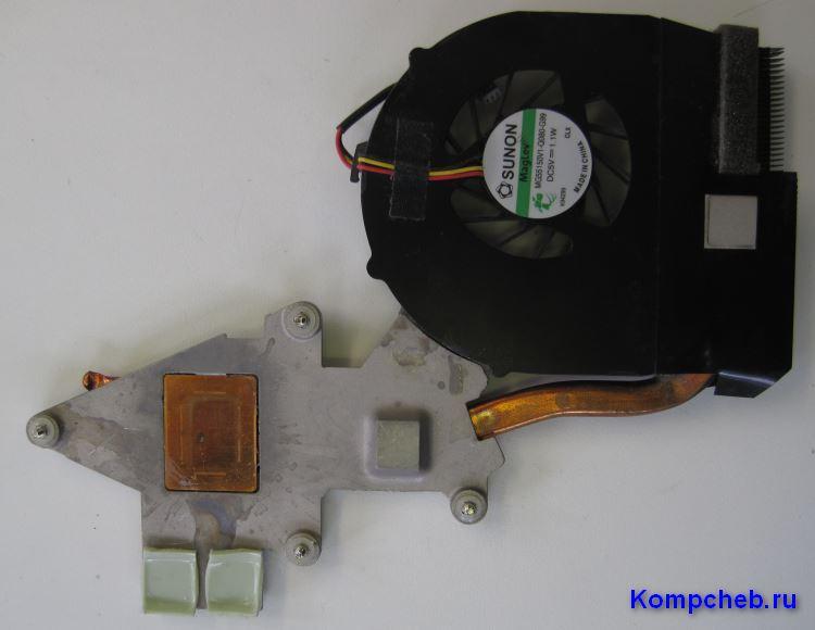 Очищенный радиатор от остатков термопасты