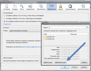 Как удалить куки Mozilla Firefox