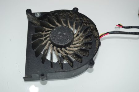 вентилятор и радиатор до чистки
