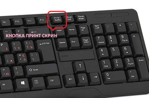 Кнопка принт скрин на клавиатуре