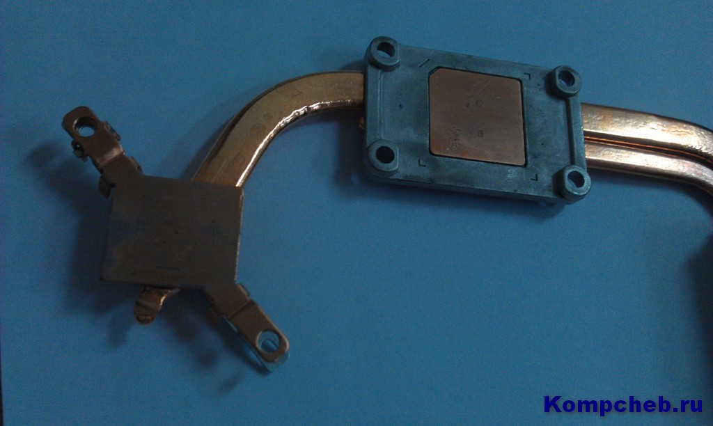 Очищенный радиатор от остатков старой термопасты