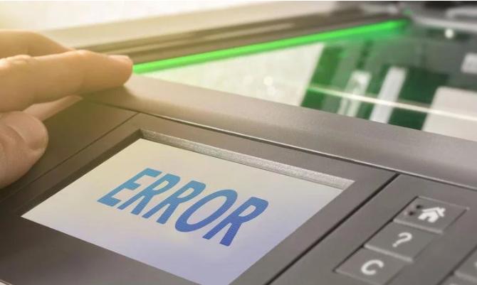 Принтер выдает ошибку